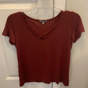 Charlotte Russe Criss Cross Top